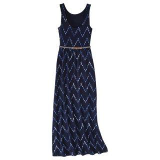 Merona Womens Maxi Dress w/Belt   Navy Chest   XS
