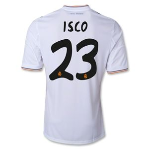 adidas Real Madrid 13/14 ISCO Home Soccer Jersey
