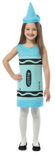 Crayola Sky Blue Tank Dress Child Costume