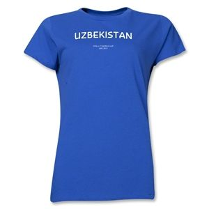 Uzbekistan 2013 FIFA U 17 World Cup UAE Womens T Shirt (Royal)