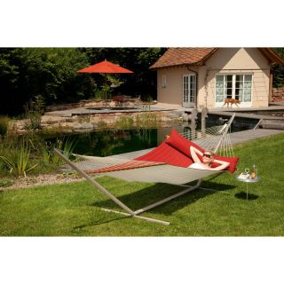 Gale Pacific Double Person Hammock with Timber Spreader Bar Red Pepper   462338