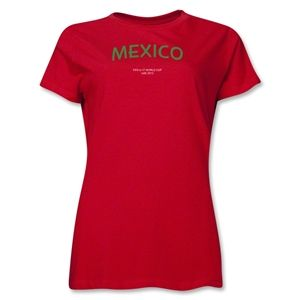 Mexico 2013 FIFA U 17 World Cup UAE Womens T Shirt (Red)
