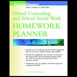 School Counseling and School Social Work Homework Planner   With CD