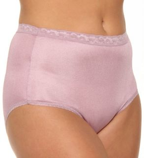 Just My Size 0601 Nylon Brief Panties   4 Pack