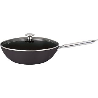 Mario Batali by Dansk 12 Light Enameled Cast Iron Stir Fry Pan with Lid