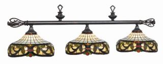 Harmony Stained Glass Pool Table Light