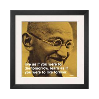 ART Gandhi Live and Learn Framed Print Wall Art