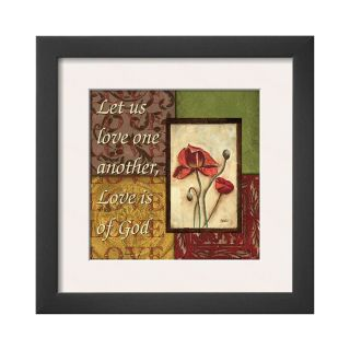 ART Spice 4 Patch Let Us Love Framed Print Wall Art