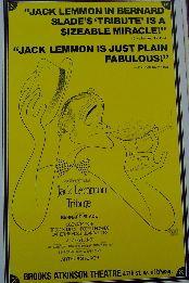 Tribute (Original Broadway Theatre Window Card)