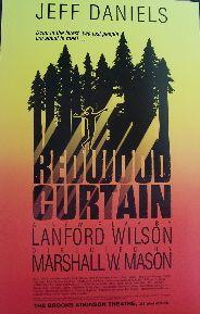 Redwood Curtain (Original Broadway Theatre Window Card)