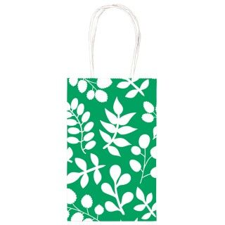 Green Leaf Print Party Bag