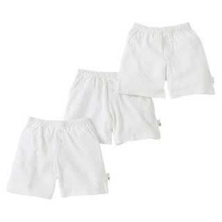 Burts Bees Baby Infant Toddler Boys 3 Pack Boxer Shorts   Dove White 4T
