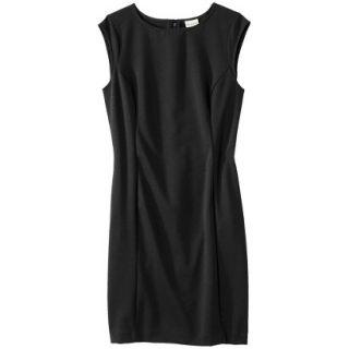Merona Womens Ponte Sheath Dress   Black   S