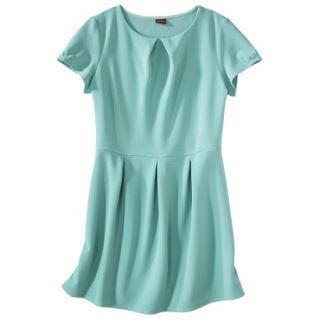 Merona Womens Plus Size Short Sleeve Pleated Front Dress   Aqua 1