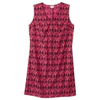 Merona Womens Woven Front Pocket Dress   Berry Cobbler   L