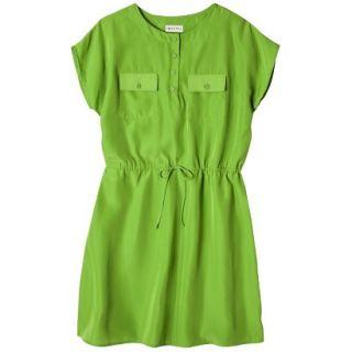 Merona Womens Woven Tie Waist Dress   Zuna Green   L
