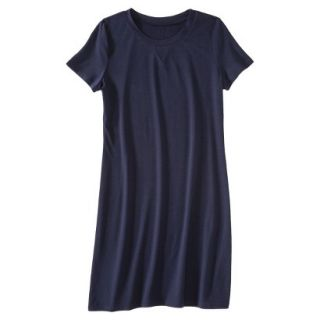 Merona Womens Knit T Shirt Dress   Xavier Navy   M