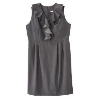 Merona Womens Plus Size Sleeveless Sheath Dress   Gray 18W