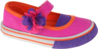 Girls Nina Anisa   Neon Pink Canvas Mary Janes