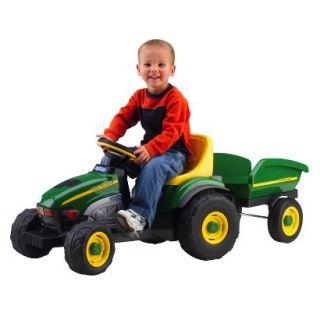 Peg Perego John Deere Farm Tractor with Trailer