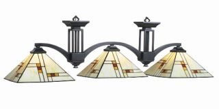 Brooklyn Stained Glass Pool Table Light