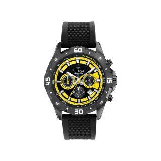 Bulova Marine Star Mens Yellow Chronograph Sport Watch