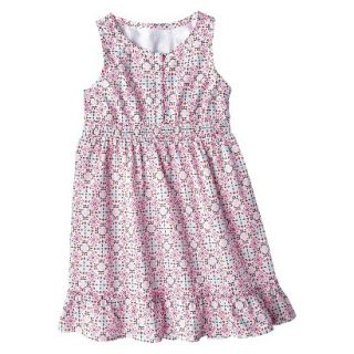 Girls Sleeveless Button Front Shirt Dress   Multicolor L