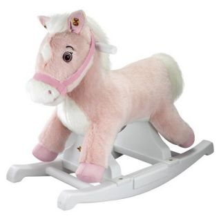 Tek Nek Rockin Rider Pink Pony Rocking Horse   Talking Plush