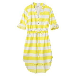 Merona Womens Drawstring Shirt Dress   Striped   XS