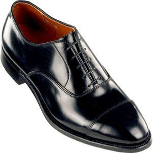 Alden Mens Cap Toe Bal Oxford Shell Cordovan Black Shell Shoes, Size 10.5 3E   9071