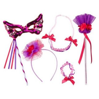 Whimsy & Wonder Purple Wand, Mask & Jewelry Set Bundle
