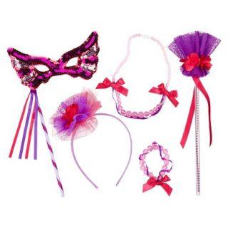 Whimsy & Wonder Purple Wand, Mask & Jewelry Set Bundle
