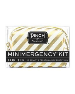 Candy Striper Minimergency Kit For Her, White   Pinch Provisions