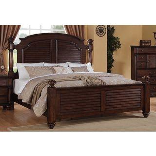 Duval Distressed Mahogany Post Bed