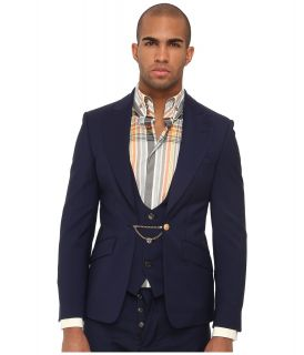 Vivienne Westwood MAN Classic Wool Suiting Blazer with Waistcoat Mens Jacket (Navy)