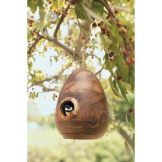 Smith & Hawken Natural Wood Bird House