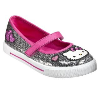 Girls Hello Kitty Sequin Mary Jane Shoes   Silver 3