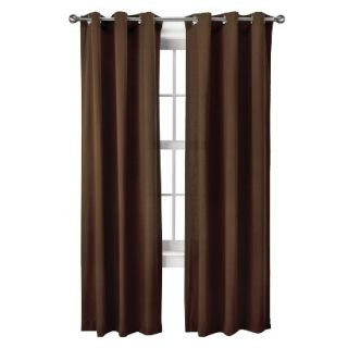 Threshold Grayson Grommet Window Panel Pair   Brown (42x84)