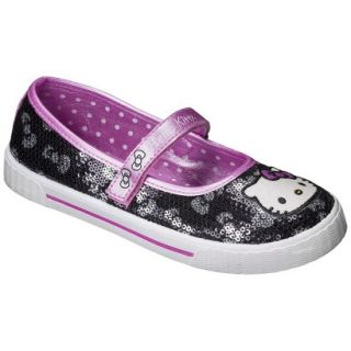 Girls Hello Kitty Sequin Sneaker   Black 1