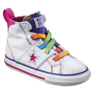Toddler Girls Converse One Star High Top Sneaker   White 9