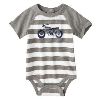 Circo Newborn Boys Motorcycle Bodysuit   Grey Stripe NB