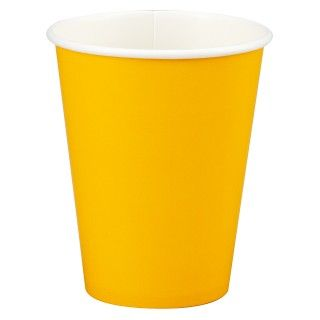 School Bus Yellow (Yellow) 9 oz. Paper Cups