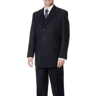 Caravelli Fusion Mens Navy 3 piece Vested Suit