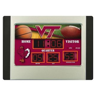 Team Sports America Virginia Tech Scoreboard Desk Clock
