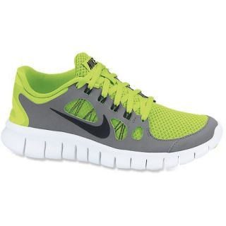 Nike Free 5.0 Running Shoes  Boys,  VOLT/COOL Grey/PURE PLATI,  Kids 5.5