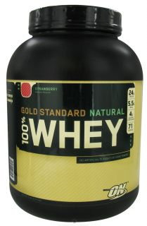 Optimum Nutrition   100% Whey Gold Standard Natural Protein Strawberry   5 lbs.