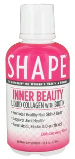 Shape Nutritional   Inner Beauty Liquid Collagen With Biotin Delicious Berry Flavor   16 oz.