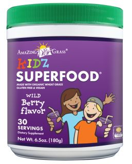 Amazing Grass   Kidz SuperFood Powder 30 Servings Wild Berry   6.5 oz.