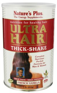 Natures Plus   Ultra Hair Thick Shake French Vanilla   1 lb.