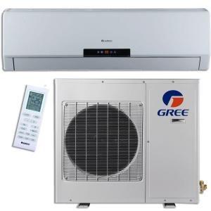 GREE Premium Efficiency 18,000 BTU (1.5Ton) Ductless (Duct Free) Mini Split Air Conditioner   Inverter, Heat, Remote 208 230V GWH18MC D3DNA3D